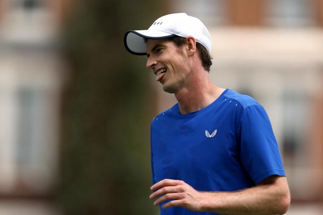 Andy Murray is in doubles action at Queen's Club