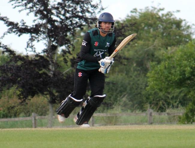 Action from Wiltshire's Unicorns Knockout Trophy quarter-final win at Oxfordshire on Sunday, June 30, 2019 - Captain Ed Young at the crease - PICTURE: ROY HONEYBONE