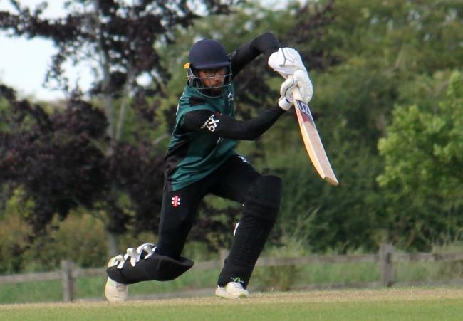 Uzi Qureshi hits out on his way to a century for Wiltshire in their clash away at Oxfordshire on Sunday - a knock that inspired the county to victory in the Unicorns Knockout Trophy quarter-finals. MORE CRICKET ON PAGES 86-87
