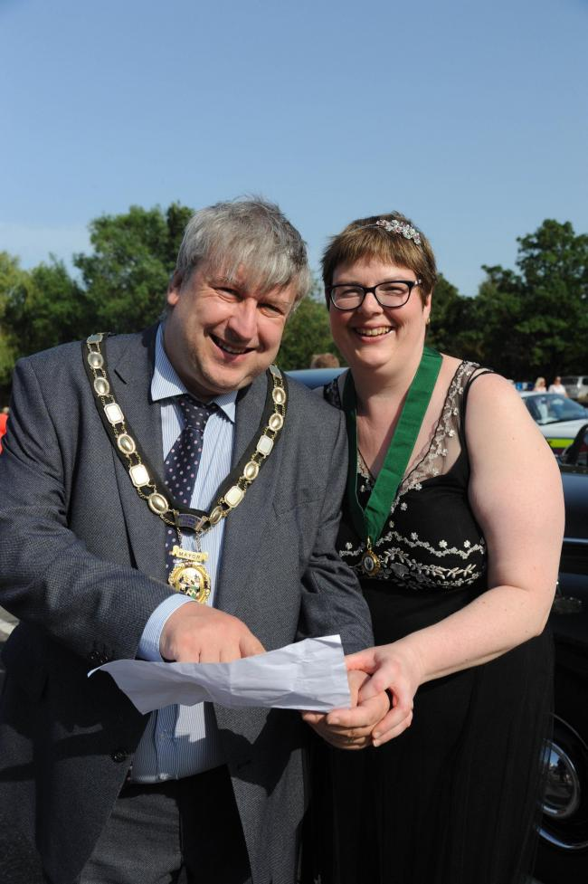 Melksham's mayor Cllr Jon Hubbard and his wife Annette will be hoping to have a merry time at the town's 800th anniversary celebrations for its Market Charter in September Photo: Trevor Porter 60437/15