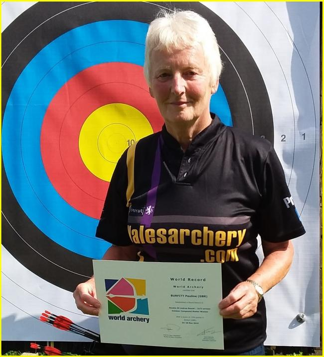 Pauline Burfitt with her world record certificate