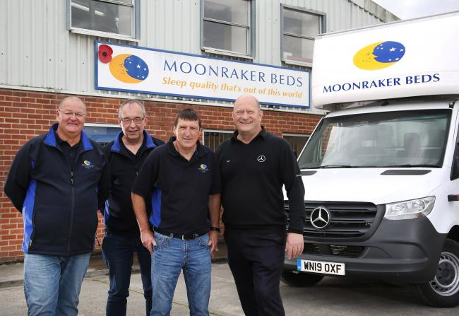 L-R: Business partners Scott Taylor, Andy Lewis, and Keith Quadling with Andy Dummer