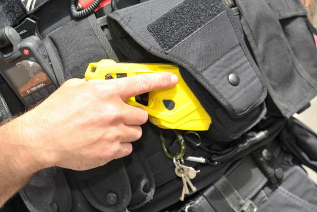 Police fired their Tasers at children in Wiltshire on five occasions in 2019/20, figures show Picture: DAVE COX