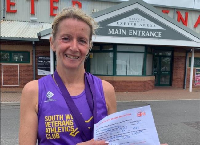 Fiona Price recently set a new British record for the One Hour Track run