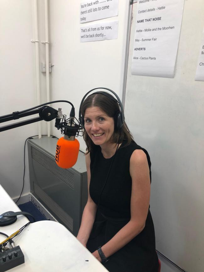 Michelle Donelan MP visits Westwood School Radio
