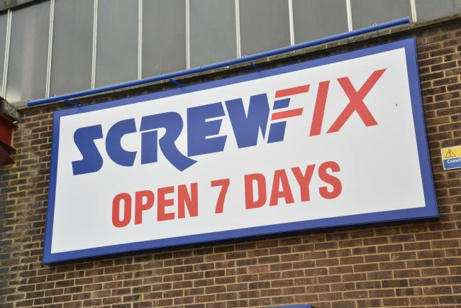 The Screwfix store will open seven days a week