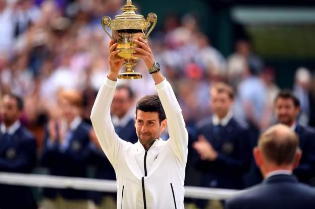 NOVAK Djokovic has just beaten Roger Federer to win his 5th Wimbledon men's singles title