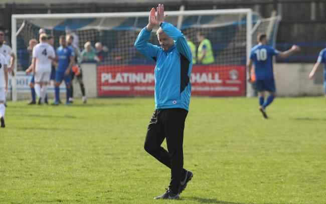 Mark Collier during Chippenham Town's 2-0 win over Truro City. Picture: ROBIN FOSTER