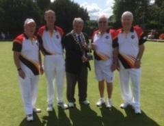 The Chippenham Town team of Rob Clews, Jim Fitzpatrick, Richard Gainey and Willie Jones won the men's senior fours title