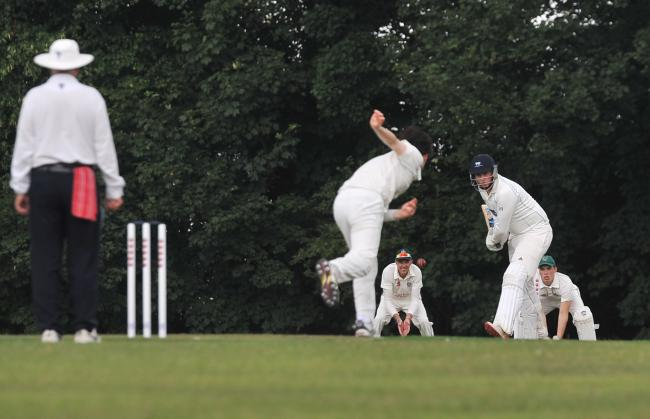 Westbury at the crease during their victory away at Purton