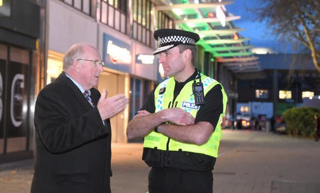 Police commissioner Angus Macpherson with Chief Constable Kier Pritchard Picture: CALYX