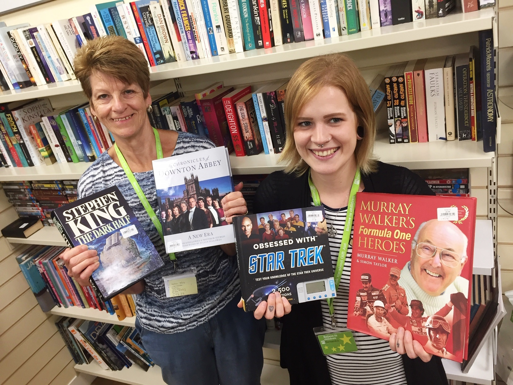 Book bargains on offer at Barnardo's in Westbury