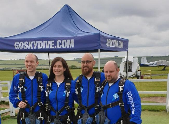Members of the Goodson Lodge Skydive team