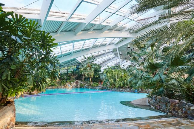 The Sub-tropical Swimming Paradise indoor pool at Center Parcs Longleat Forest
