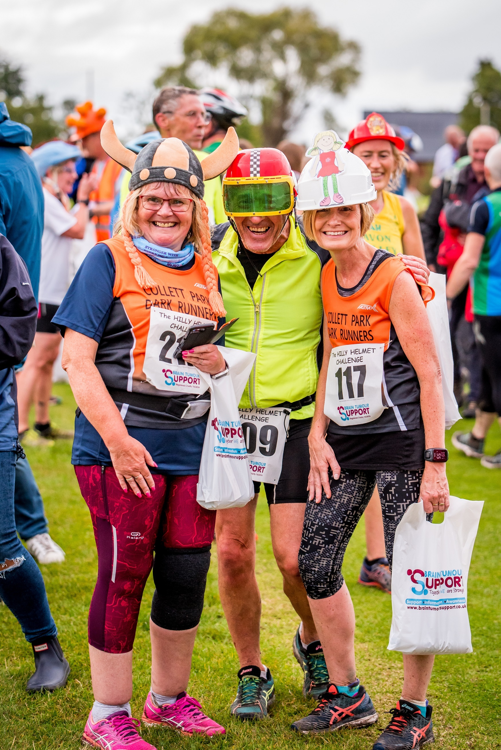 Runners took on the Hilly Helmet Challenge to raise more than £4,000 for the Brain Tumour Support charity