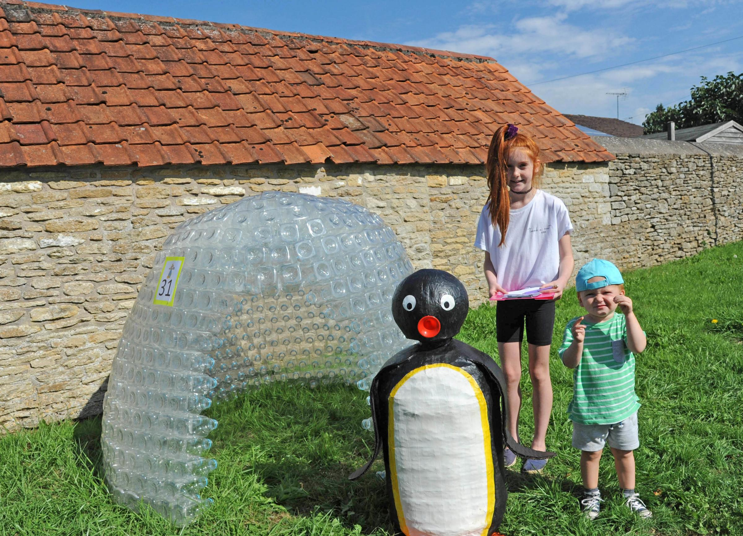 Villagers hunt for scarecrows