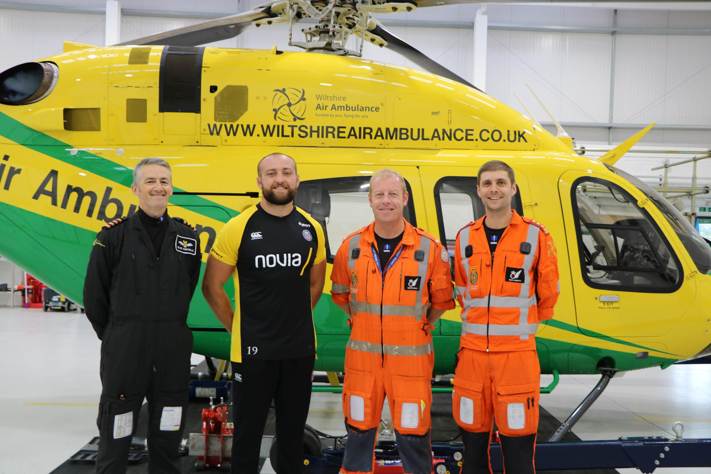 Rugby star Tom is latest Face of Wiltshire Air Ambulance
