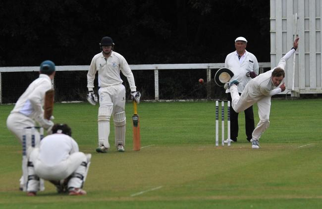 Cricket, Nationwide v Bedwyn at Nationwide CC..Pic - Nationwide bowler.Date 1/8/19.Pic by Dave Cox.