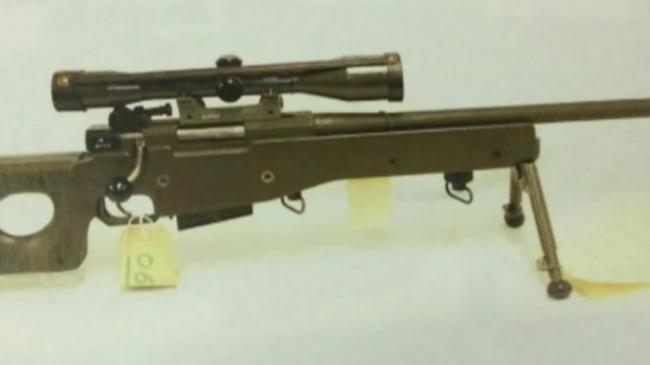 A deactivated sniper rifle was one of the weapons stolen from the MoD army base at Warminster