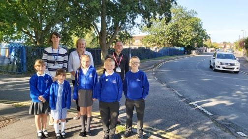 Pupils take action to tackle dangerous road outside school