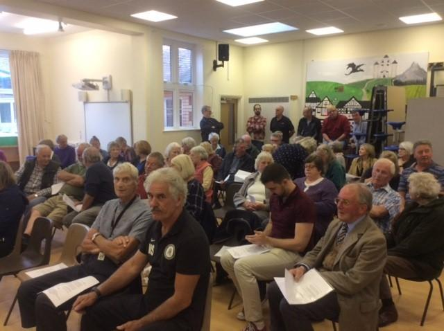 Around 85 residents attended the Heytesbury Parish Meeting last Friday, September 6