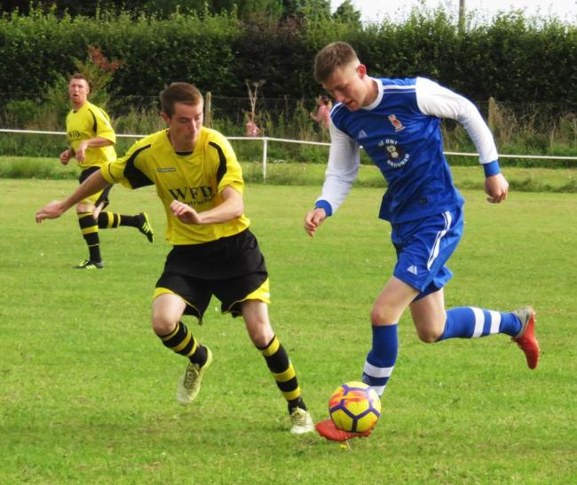 Chippenham & DistAction from the 5-2 win for Worton & Cheverell (yellow) over Bromham in the Chippenham & District Sunday League Premier Division. PICTURE: CADER ESOOFrict League Sunday ident