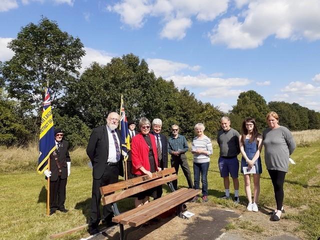 WW1 fallen commemorated by Semington memorial bench