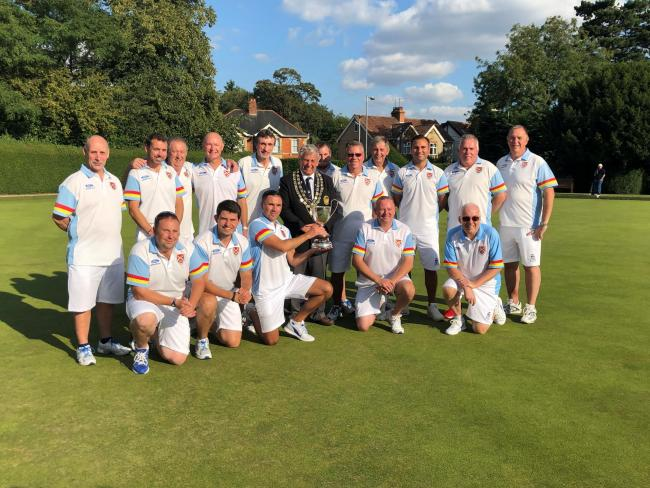 The Royal Wootton Bassett team who won the Wiltshire men's four-rink league title