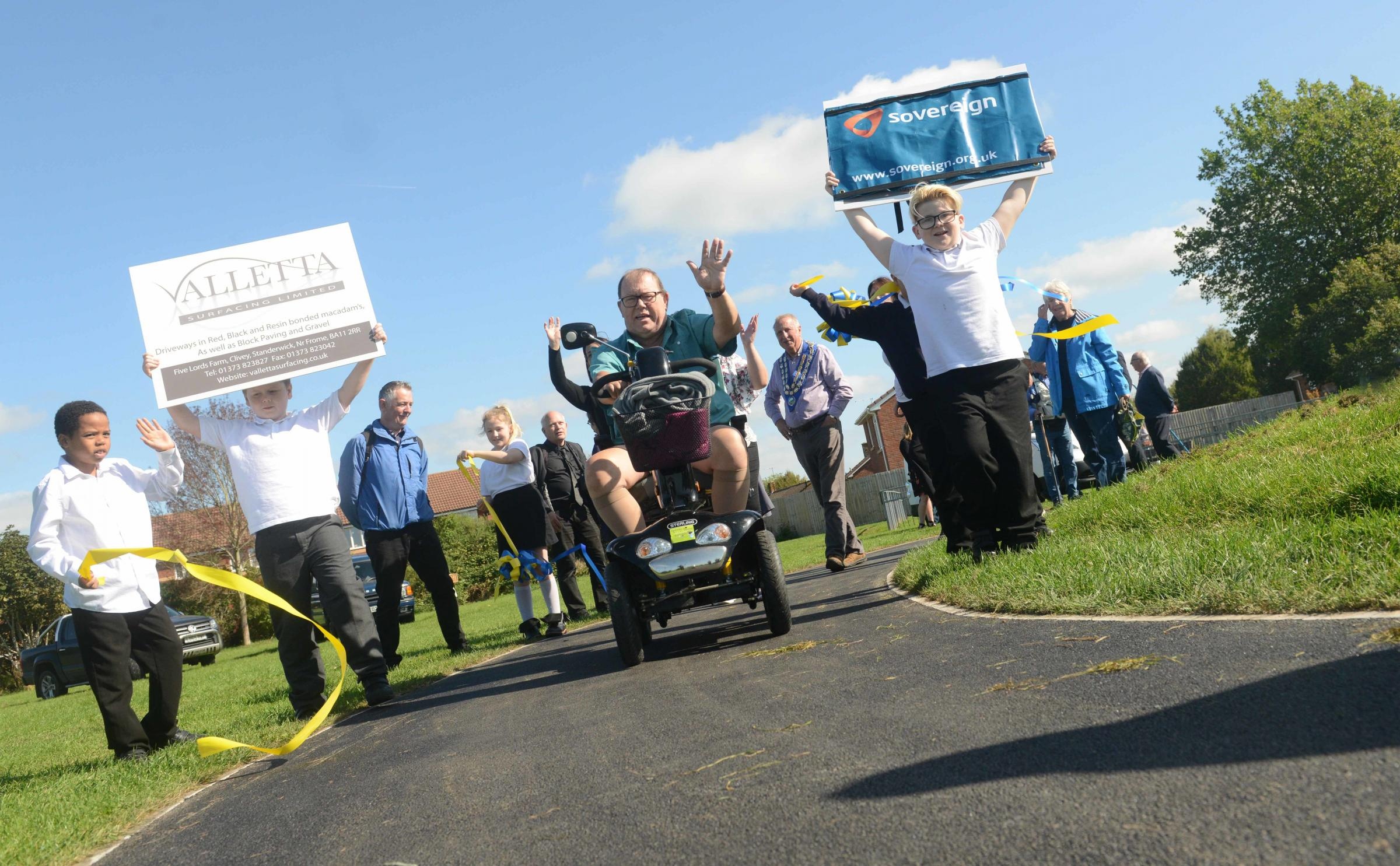 People power gets 'wobbly' path resurfaced