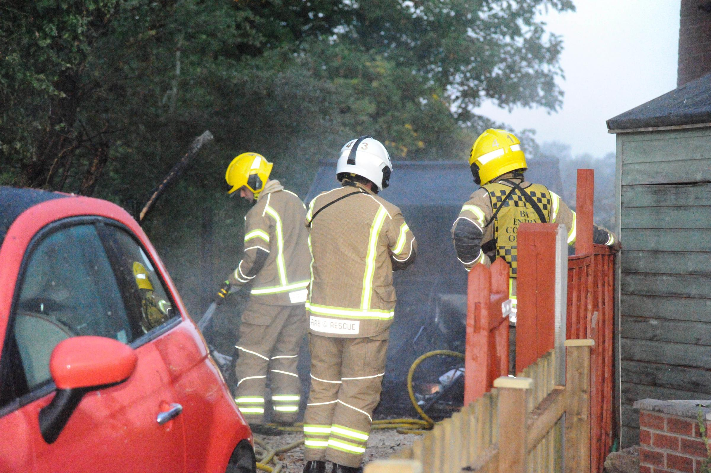 Couple rescued after shed fire endangers their Trowbridge home