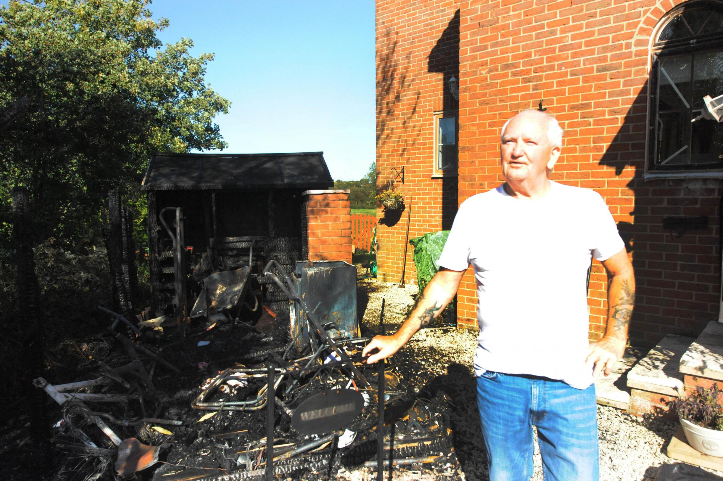 UPDATE: Trowbridge couple whose shed caught fire endangering their home praise firefighters