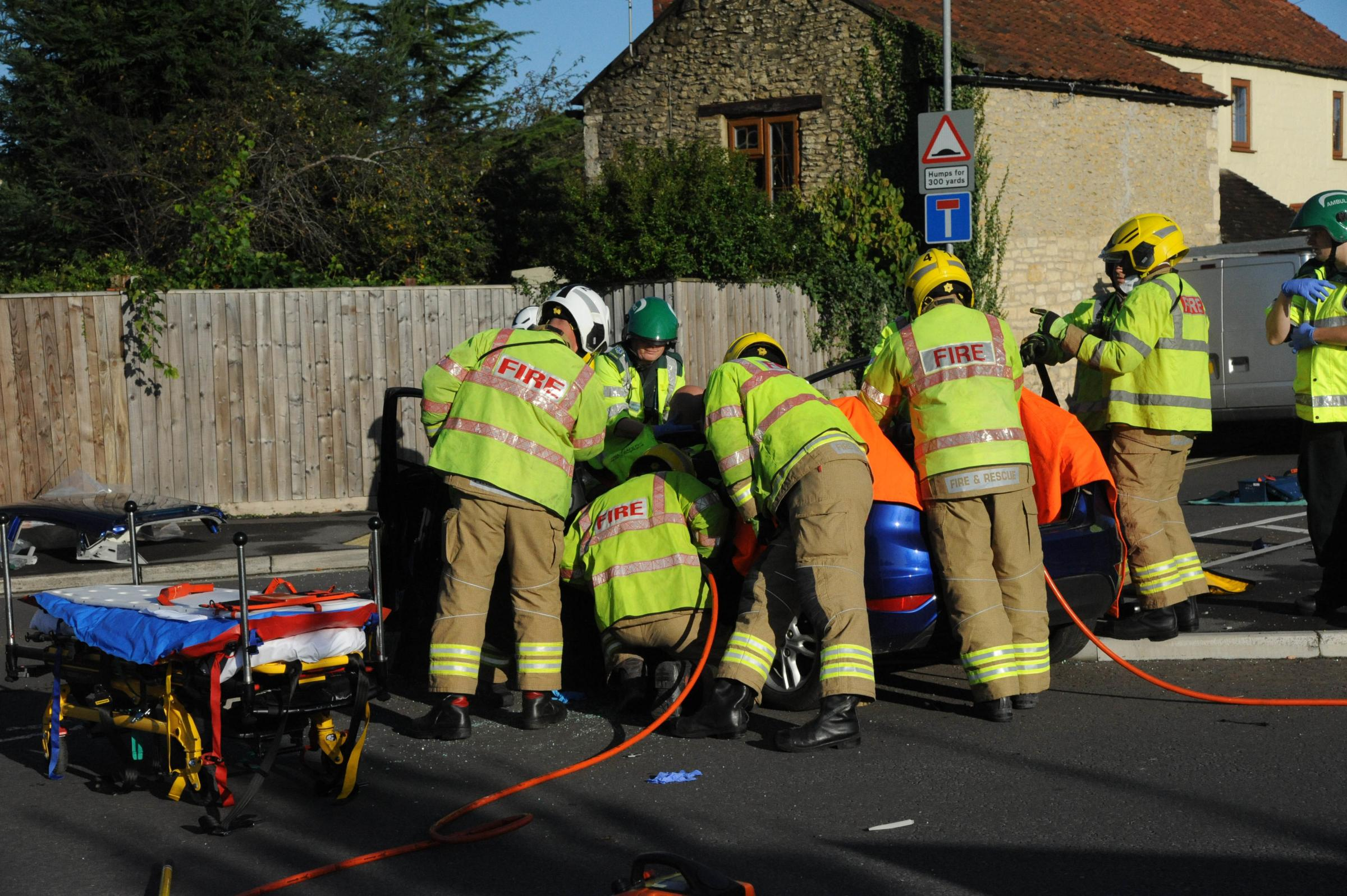 One man taken to hospital after a crash in Trowbridge on Wednesday