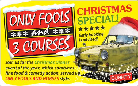 Only Fools and 3 Courses XMAS Special Dinner Newbury