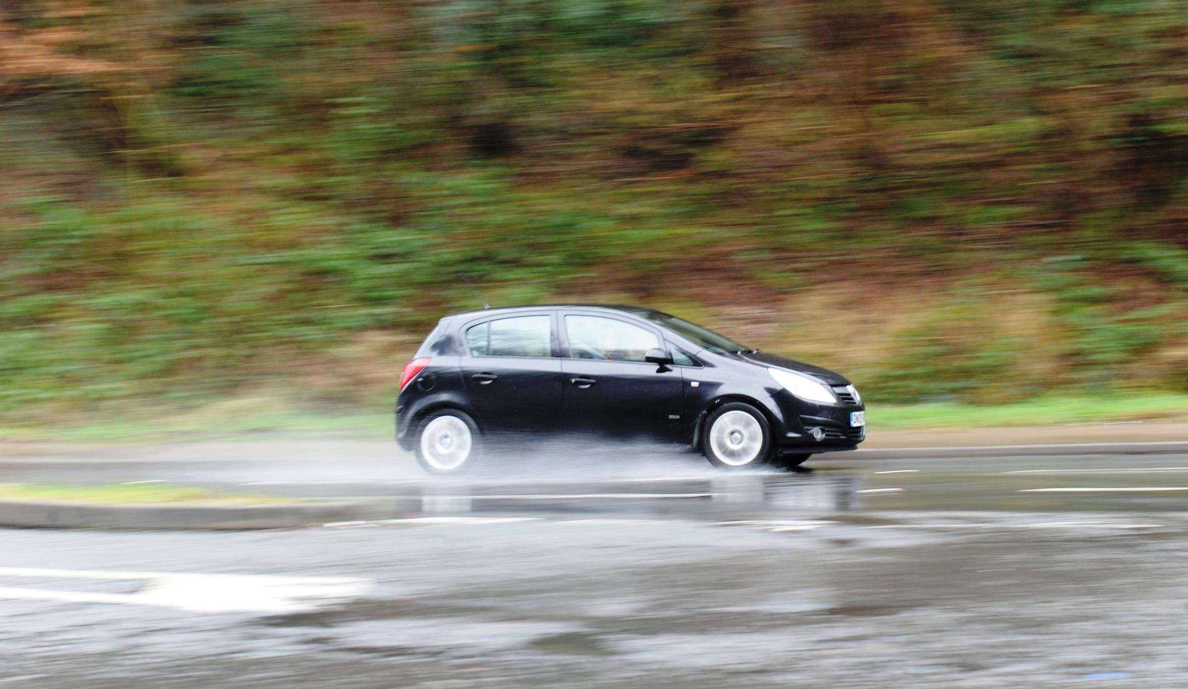 Day's rain across Wiltshire leaves large puddles on many routes