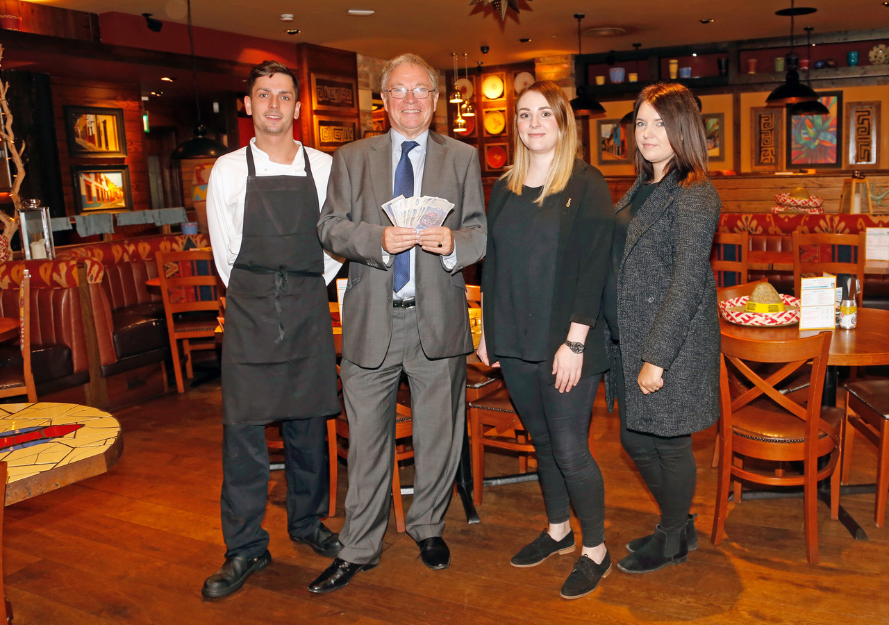 Chiquitos in Trowbridge raise cash for cancer support group