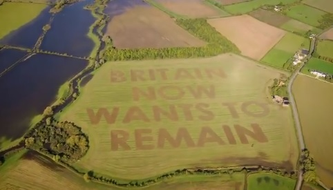 Wiltshire farmland used to send Brexit message by campaigners Led by Donkeys