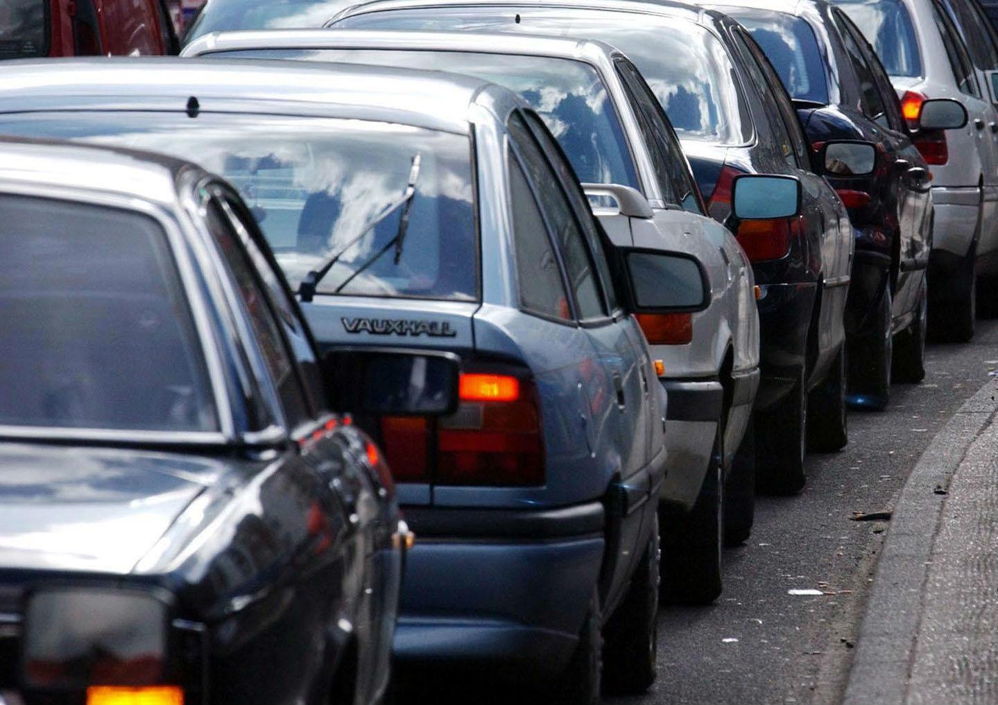 Road closure for resurfacing leading to tailbacks
