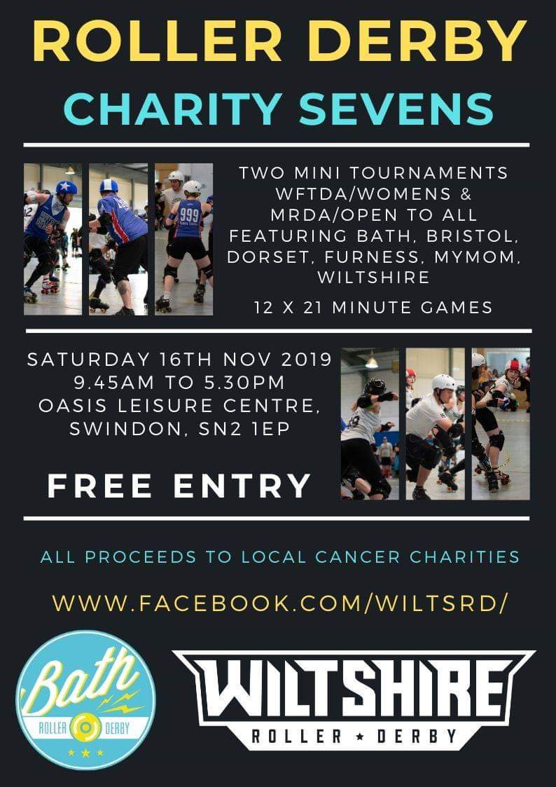 Free Live Roller Derby! Charity Sevens