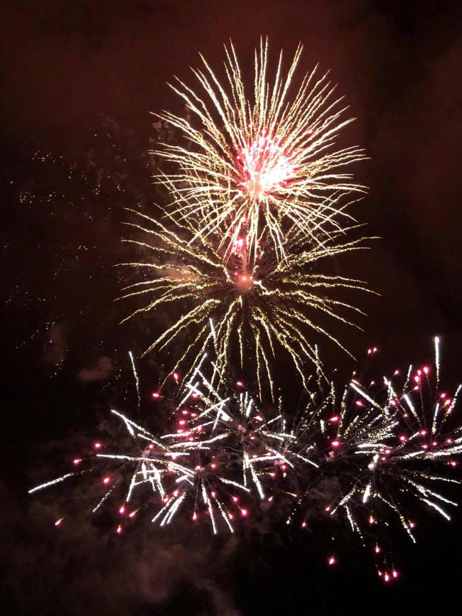 Crowds were in awe at a firework display in Melksham yesterday