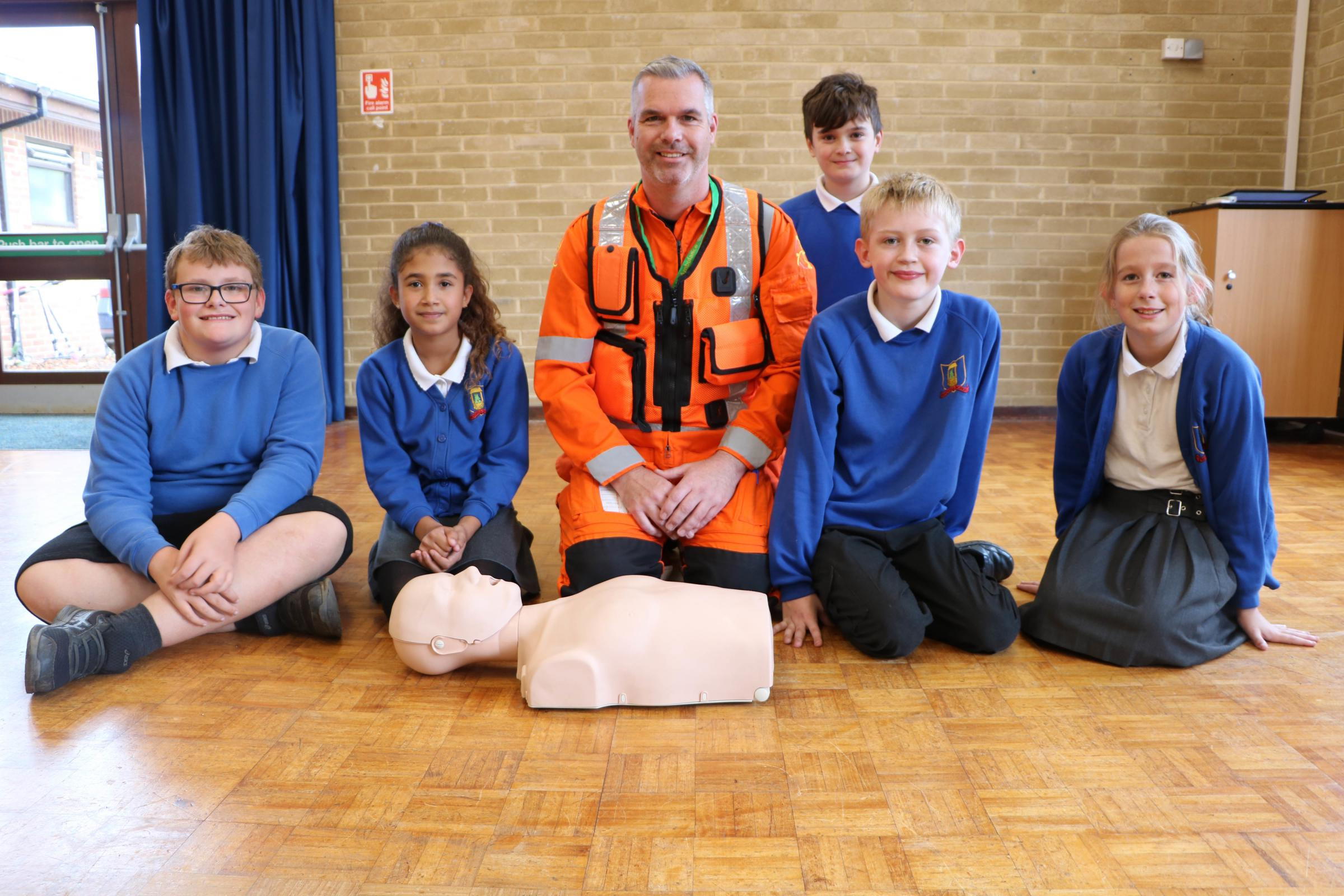 Children learn life saving skills with Wiltshire Air Ambulance programme