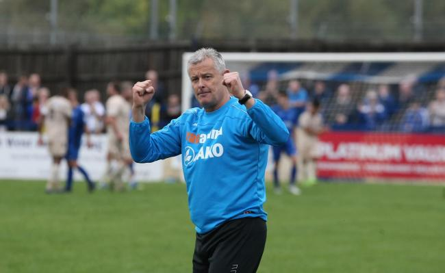 Mark Collier.  Chippenham Town 0 Wealdstone United 0, Saturday, October 14, 2017. Picture: ROBIN FOSTER.