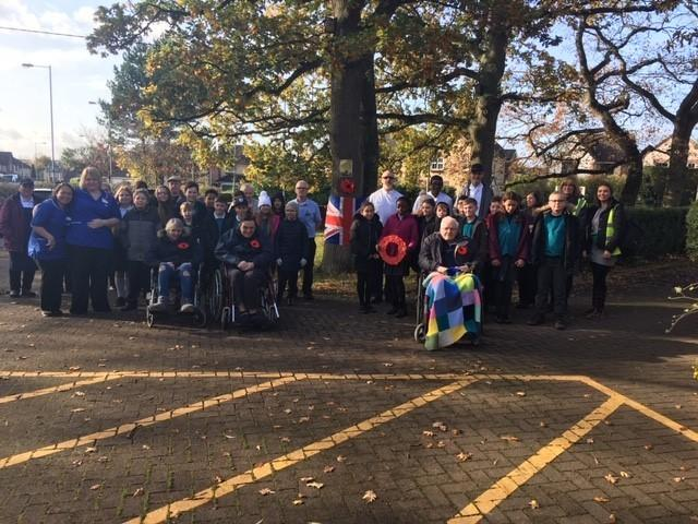 Trowbridge Oaks Care Home held a two minutes silence with pupils on Monday