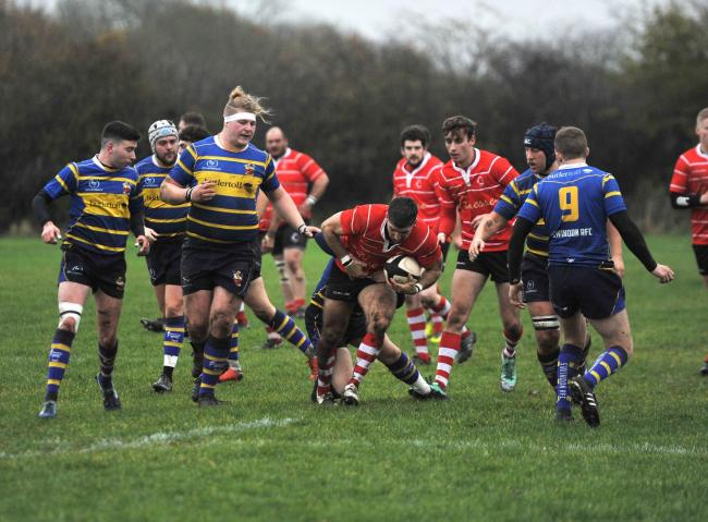 Rugby, Swindon v Corsham at Swindon RFC, Greenbridge Road..Pic - gv.Date 23/11/19.Pic by Dave Cox...