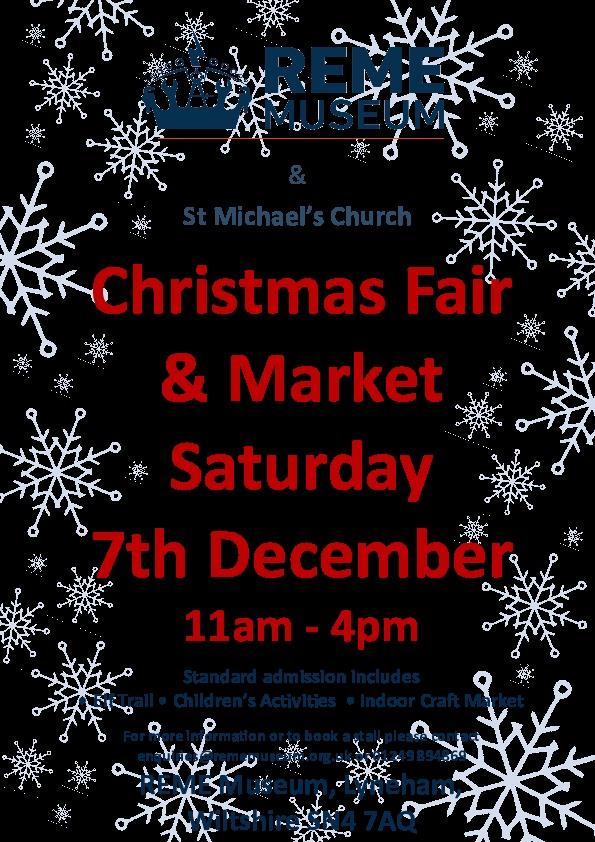 The REME museum Christmas fair and market will take place on December 7