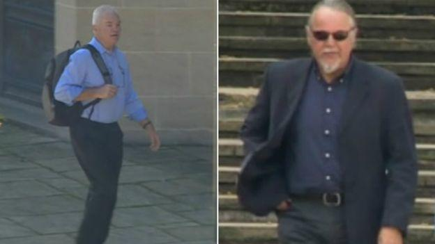 Peter Laidler (left) and Roger Smith were found guilty at Winchester Crown Court