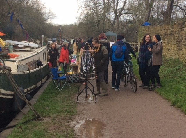 Winter floating fayre at Bradford on Avon draws the crowds