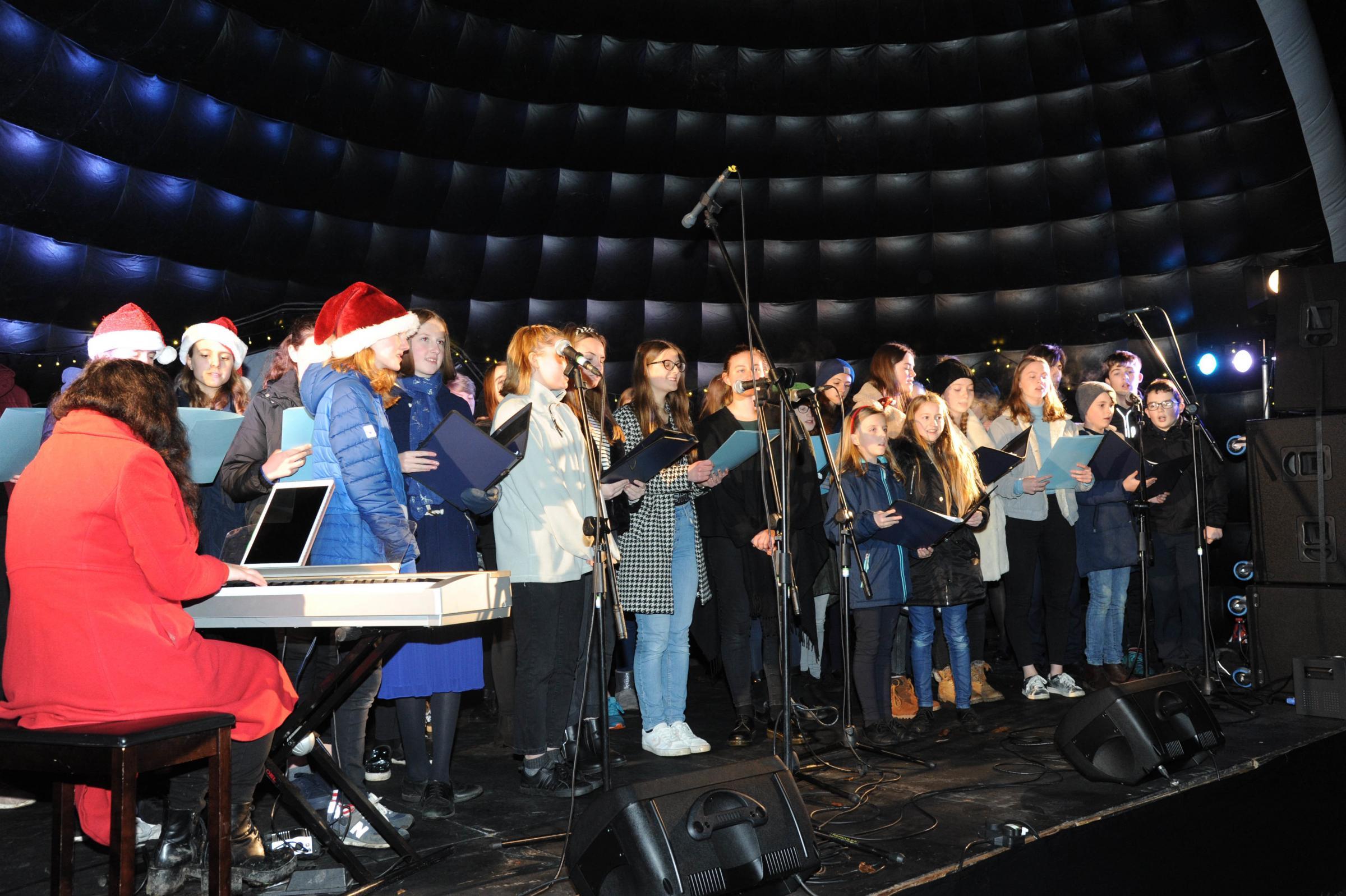 Lighting up Bradford on Avon for Christmas