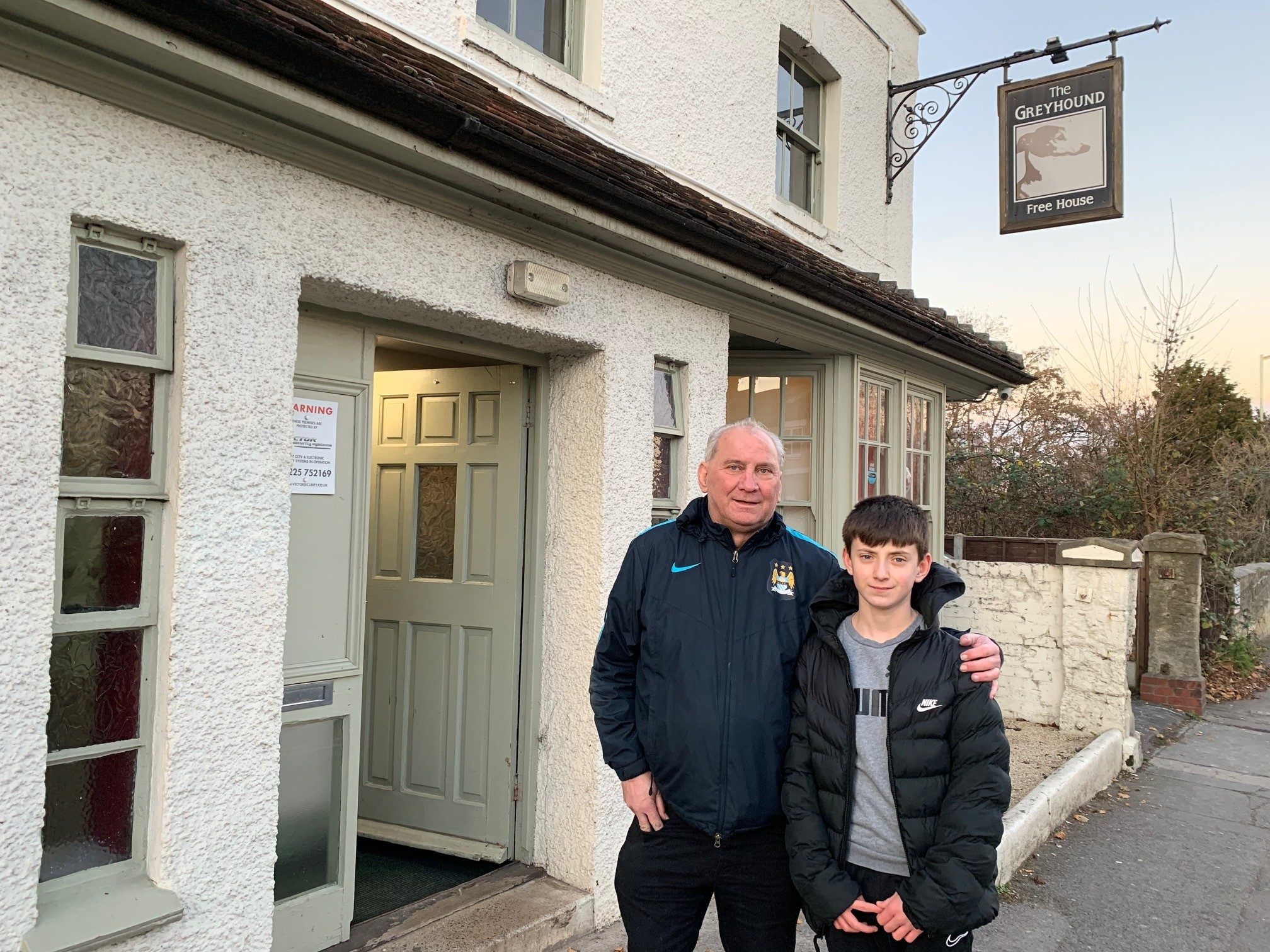 Dramatic roof rescue saves Greyhound landlord and son from burning pub