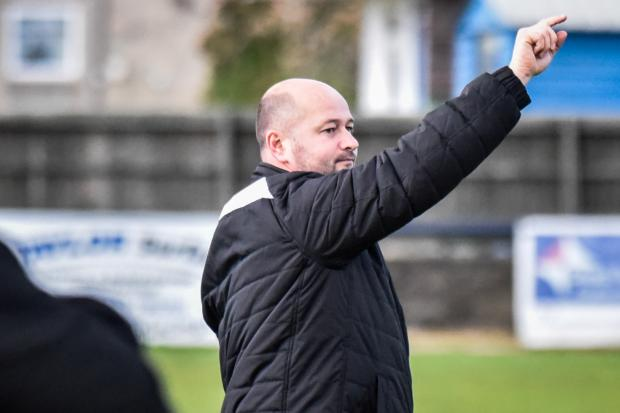 Bradford Town manager Wayne Thorne..Action  from Bradford Town v Hengrove Athletic ..Photo by www.gphillipsphotography.com GP1542.