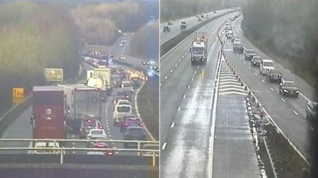 The M4 has now re-opened